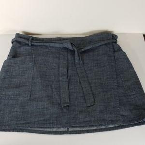 Women's Gap 12 wraparound denim skirt